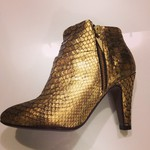 Gold Python Ankle Boots by FURY