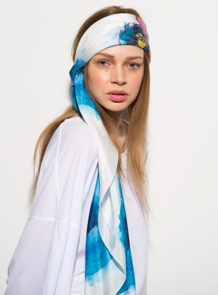 Young British Designers: MORNING GLORY- LUXE SILK SCARF by ED-LONDON