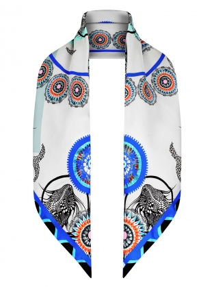 Young British Designers: The Sea of Beauty Scarf in Egyptian Blue - Last one by Bella Singleton