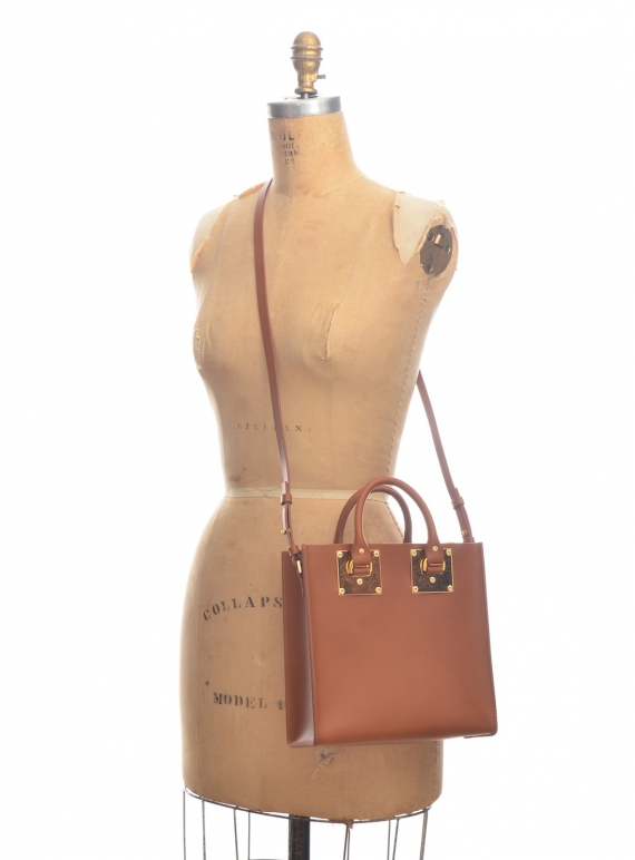 Tan Albion Square Tote by Sophie Hulme   Bags   Totes  0b3acfbbc0faf