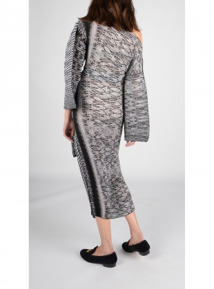 Young British Designers: Gabriella Dress In Abstract Snakeskin - last one by Joe Richards