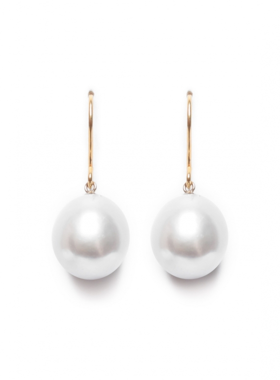 Young British Designers: White Pearl Tear Earrings  by Ora Pearls