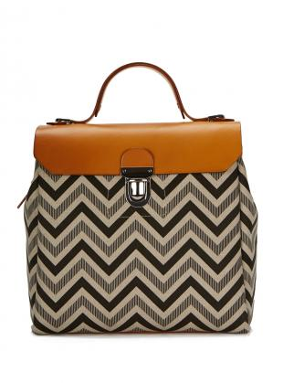 Young British Designers: Hillside Urban Backpack in Tan/Chevron - Last one by Jam Love London
