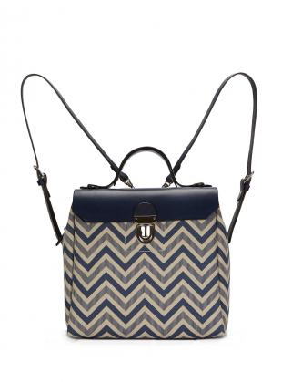 Young British Designers: Hillside Urban Backpack in Blue/Chevron - Sold out by Jam Love London
