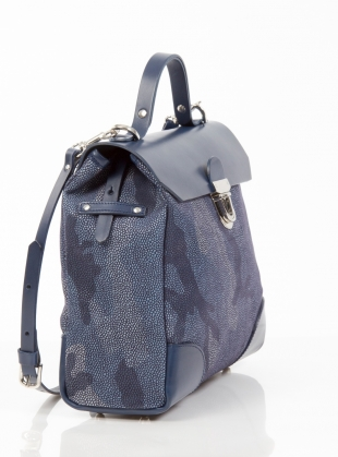 Young British Designers: Hillside Urban Backpack in Mid Blue Camouflage by Jam Love London