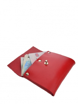 Young British Designers: LOU WALLET in Orange Red by Kate Sheridan