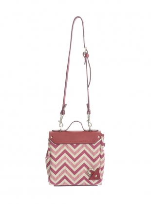 Young British Designers: Hillmini Messenger Bag in Burgundy Chevron by Jam Love London