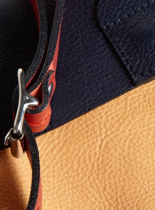 Young British Designers: DIPLO Satchel- Navy/Nude/Red by M.Hulot