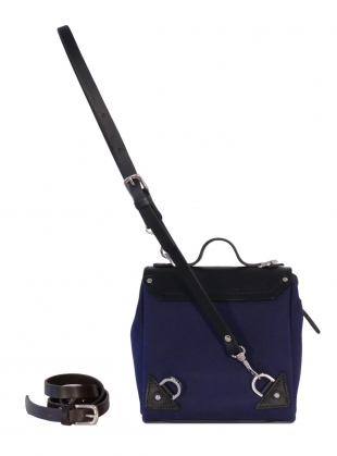 Young British Designers: Hillmini Messenger Backpack in Blueberry - last one by Jam Love London
