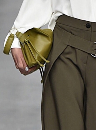Young British Designers: BAYS MINI BAG in Olive Green- last one by Eudon Choi