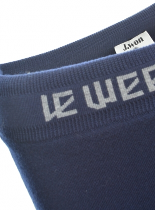 Young British Designers: 'Le-Weekend' Knit Navy Track Pants  by J.Won