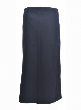 Young British Designers: Black Denim Asymmetric Skirt - last one by Charlie May