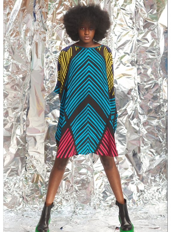 Young British Designers: Blue Stripe Souk Dress by Helen Steele