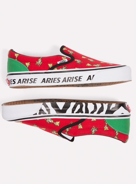 Classic Slip On Vans x Aries Tiger (Red) by Aries   Shoes  d6e8c07e5