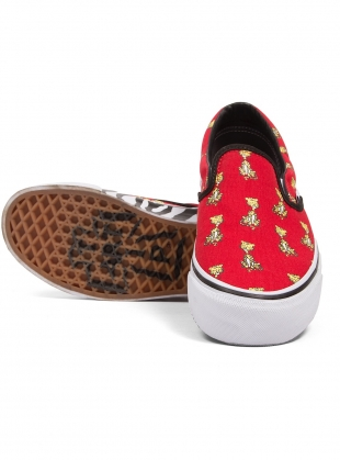 Young British Designers  Classic Slip On Vans x Aries Tiger (Red) by Aries 32aa7b355