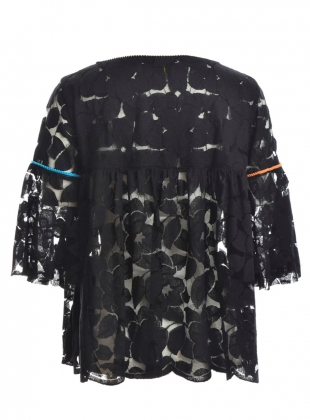 Young British Designers: Butterfly Blouse in Black with Contrast by Ziiga