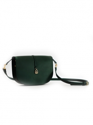 Young British Designers: THE BUDDHA Saddle Bag in Green by Paradise Row