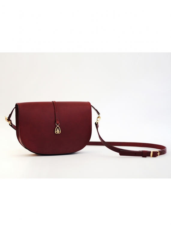 91395699480d THE BOXER Saddle Bag in Burgundy by Paradise Row   Bags   Cross Body ...