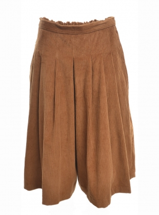 Young British Designers: JUMBO CORD PLEAT PLAY PANT in Cinnamon  by Kate Sheridan