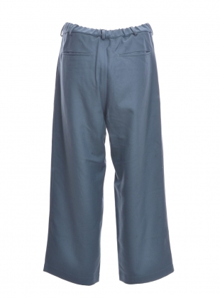 Young British Designers: Rue Teal Wool Cropped Trousers by MINKI LONDON