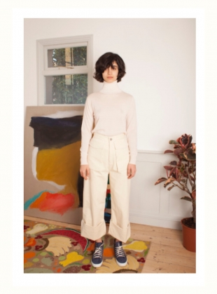 Young British Designers: RAPHAEL Trouser in Ecru by LF Markey