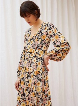 Field Of Flowers Dress In Silk Satin By Kelly Love Dresses Young