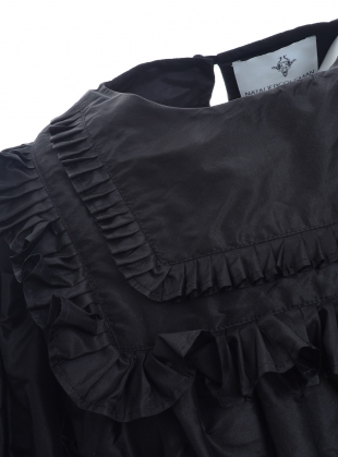 Young British Designers: Pleated Victorian Taffeta Dress by Natalie B Coleman