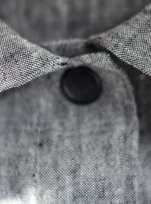 Young British Designers: Softened Linen Reversible Dress in Grey Marl - Last one by Lemuel MC