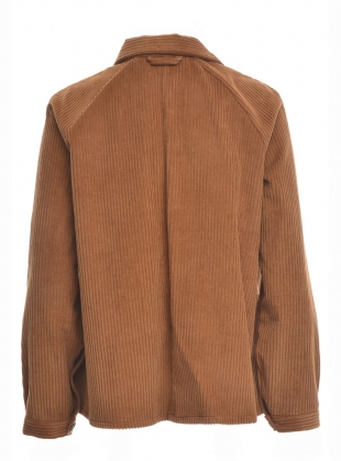 Young British Designers: A LINE JUMBO CORD JACKET in Cinnamon  by Kate Sheridan