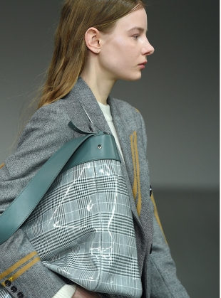 Young British Designers: GEORGINA Blazer in Grey & Camel by Eudon Choi