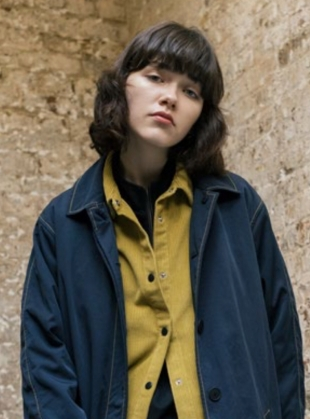 Young British Designers: SHELL Mac in Navy/Sulphur by Folk