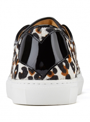Young British Designers: TOUGH LOVE SNEAKER in Leopard by Rogue Matilda