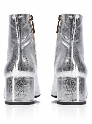 Young British Designers: VERA BOOT in Silver by Dear Frances