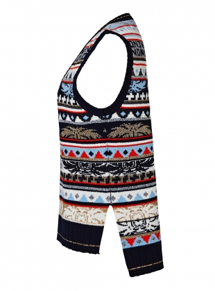 Young British Designers: ANGEL FAIR ISLE Knit Vest - Sold out by J.Won