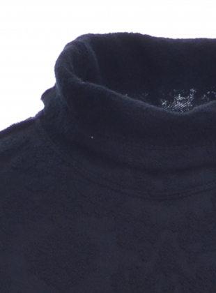 Young British Designers: Black Jacquard Knit Roll Neck Top - Sold out by Renli Su