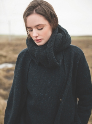 Young British Designers: Cashel Cardigan in Midnight - BACK IN STOCK by McConnell