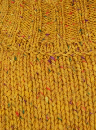 Young British Designers: Inishowen Tweed Sweater in Saffron by McConnell