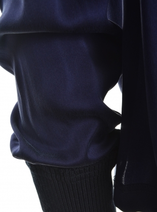Young British Designers: Navy Silk Lining Turtleneck by Steven Tai