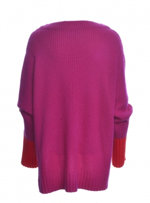 Young British Designers: FRANKIE Sweater in Pink/Red by SYKES