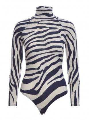 Young British Designers: GRACE Roll Neck Body in Zebra by SYKES