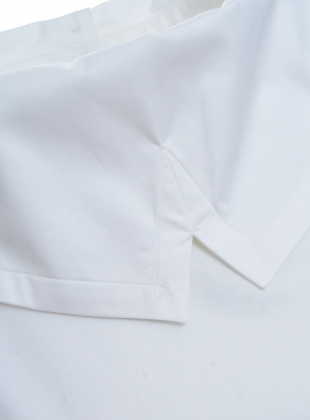 Young British Designers: WHITE SATEEN COTTON SHIRT  by Teija Eilola
