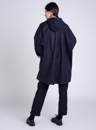 Young British Designers: BATWING Coat in Original Navy and Regatta by Kate Sheridan