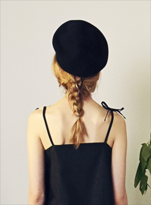 Young British Designers: BLACK MOON LEE BERET  by Moon Lee Artwear