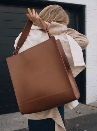 Young British Designers: KAI Tote in Classic Tan by Danielle Foster