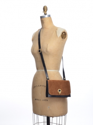 Young British Designers: CHARLIE Box in Black with Tan Suede by Danielle Foster