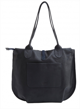 Young British Designers: SOAMES Tote in Black with Navy by M.Hulot