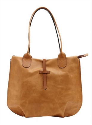Young British Designers: SOAMES Tote in Natural with Tan by M.Hulot
