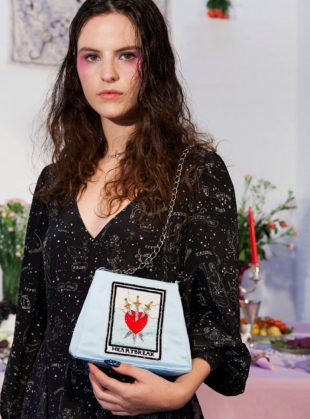 Young British Designers: Heartbreak Embroidered Evening Bag by Clio Peppiatt