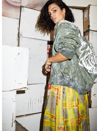 Young British Designers: DHL MAXI SKIRT - last one by Simeon Farrar