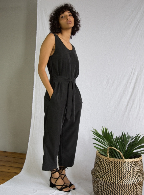 Margaret Modal Jumpsuit In Black Last One By Beaumont